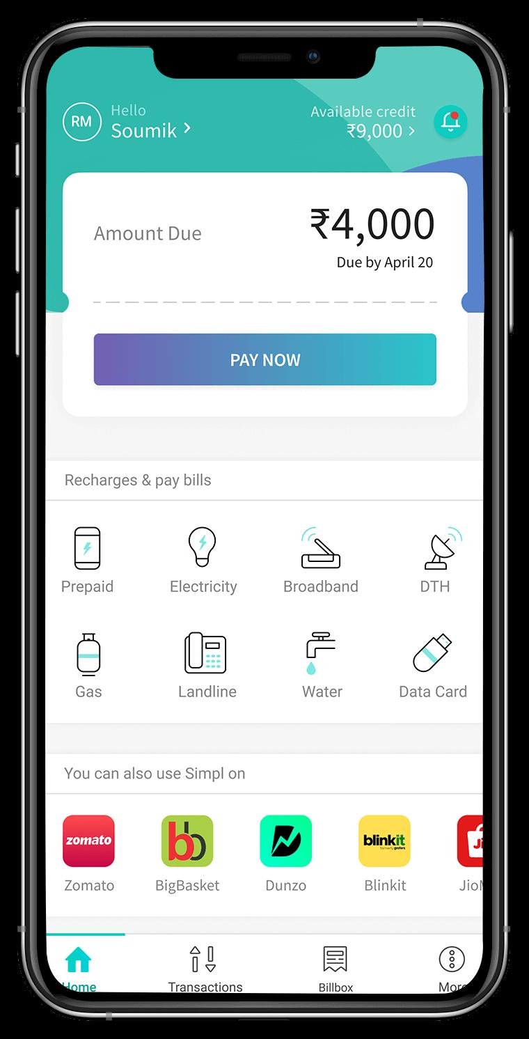 Simpl app screenshot